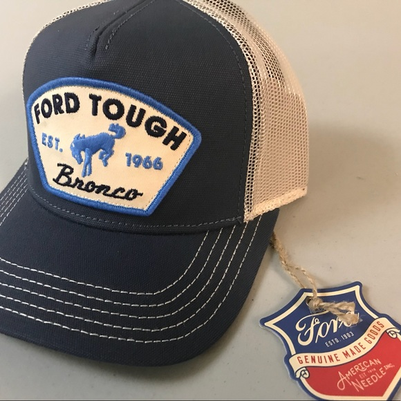 2775c7632bae1 Ford Tough Bronco Trucker Hat